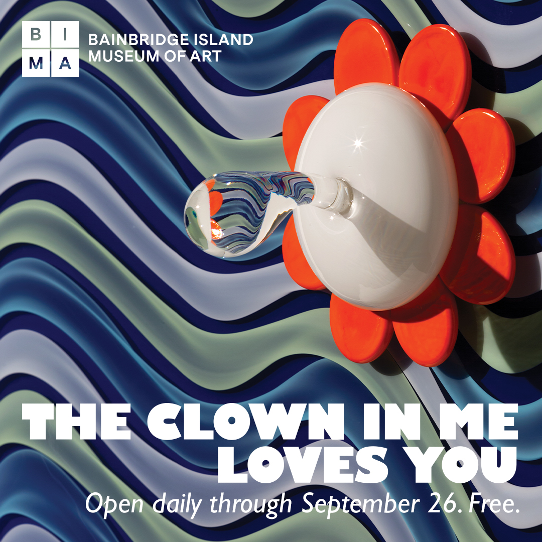 advertisement for The Clown In Me exhibit